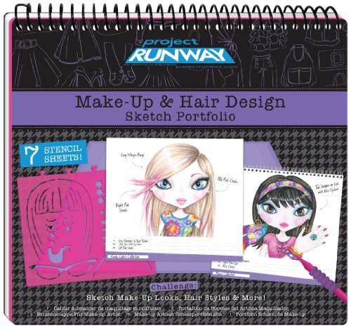 Project Runway - Make-Up Hair Design Sketch Portfolio by Fashion Angels