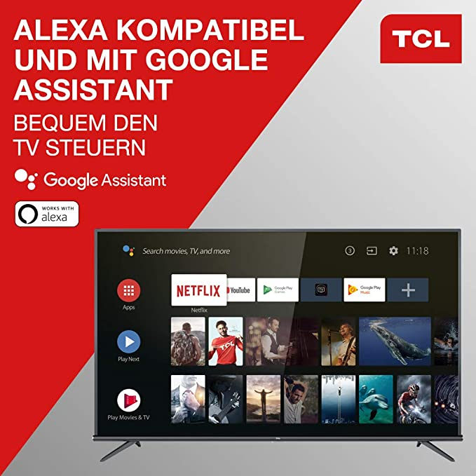 TCL Corporation - TV Led 43 - Tcl 43Ep660, Uhd 4K, HDR Pro, Android TV, Panel 10 bits, Dolby Audio: Amazon.es: Electrónica