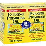 Cheap Evening Primrose Oil 500mg Royal Brittany Twin Pack American Health Products 200+200 Softgel