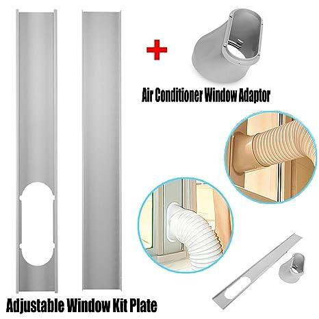 MYAMIA 6-Zoll-Fenster-Adapter-Rohrverbinder F/ür Abluftschlauch-Kit F/ür Tragbare Klimaanlagen