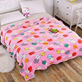 Double thickFlannel blanket winter afternoon nap blankets thick warm coral fleece blankets children Single Twin bed linens comforters ,200x230cm, Hua Fei Ye Dance