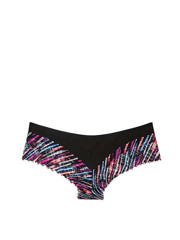 96bef840d841b Victoria s Secret Women s Pink Lace Trim Cheekster Panty Medium Multi  Scribble at Amazon Women s Clothing store