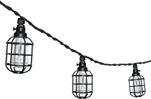 Sterno Home GL21625BK Paradise Indoor and Outdoor 10 LED String Light, 10.5 Foot