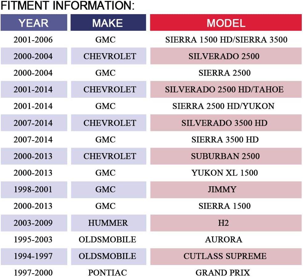 Bonneville//Grand Prix Cadillac Olds Escalade//Fleetwood//Seville Century//Regal Aurora//Cutlass Supreme Chevrolet Buick 1500//2500//3500 MAYASAF 604-106//604-112 Air Door Actuator for Pontiac