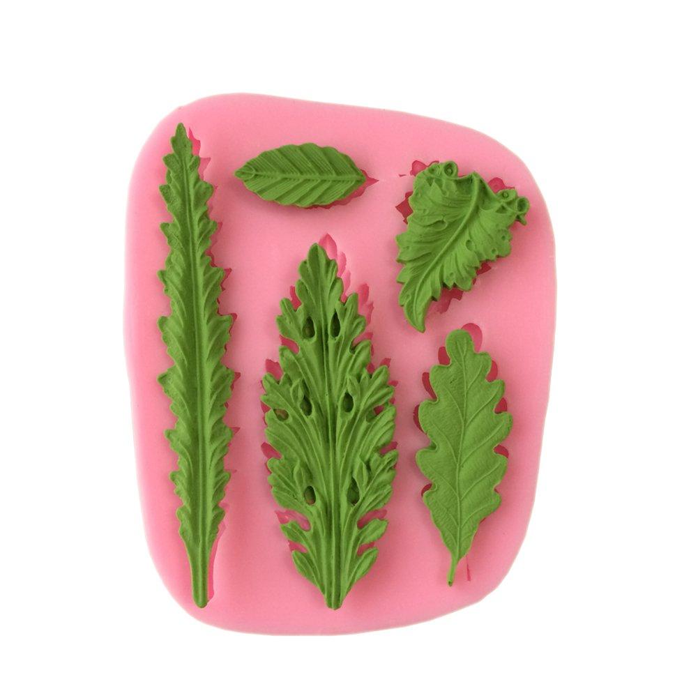 Yunko Tree Sugarcraft Silicone Mold Fondant Clay Mould Leaf Shape 3d Chocolate DIY Decorating Tool