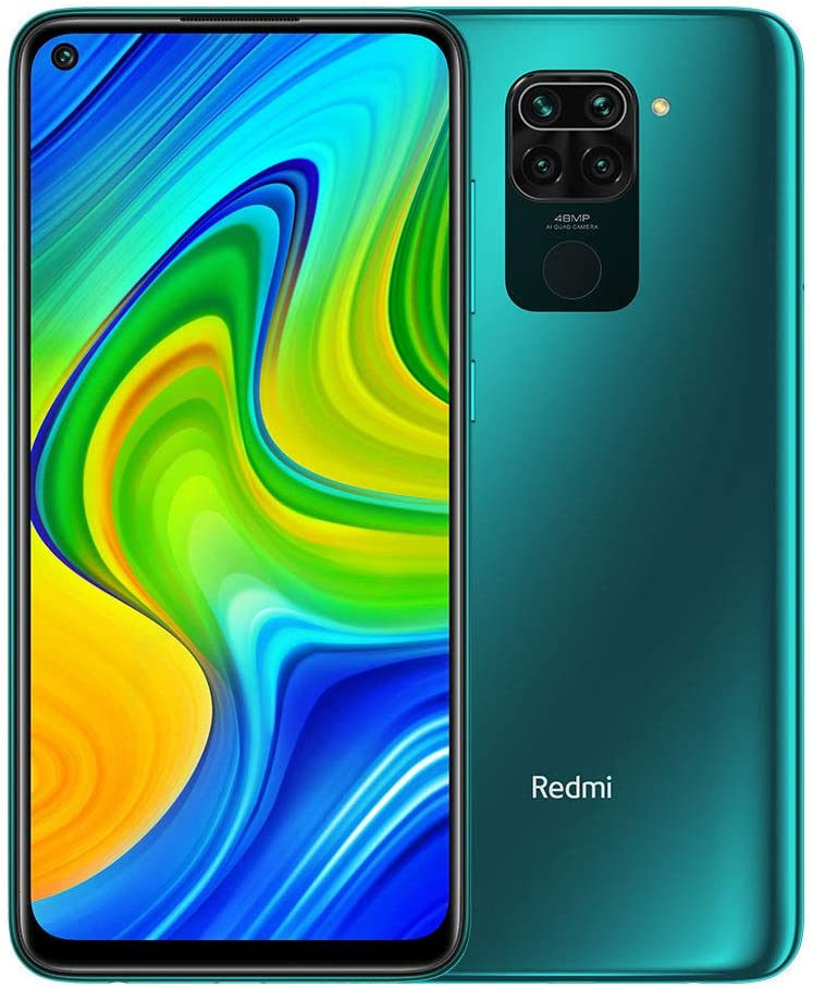 "Xiaomi Redmi Note 9 - Smartphone RAM 4GB ROM 128GB 6.53"" FHD + DotDisplay 48MP Quad Camera Hotshot 3.5mm Headphone Jack 5020 mAh NFC Verde"