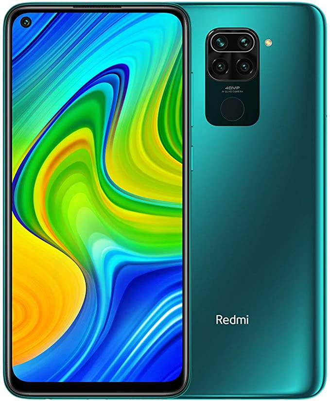"Xiaomi Redmi Note 9 - Smartphone de 6.53"" FHD (DotDisplay, 4 GB RAM, 128 GB ROM, cámara Quad de 48 MP, Hotshot 3.5 mm, Headphone Jack, batería de 5020 mAh) Forest Green: Amazon.es: Electrónica"