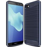 GeeMai Coque Huawei Y5 2018, Ultra Mince Silicone Cas Solide, Durable, Anti-Chute, antidérapant Cas Souple TPU Cas Mobile Téléphone Case pour Huawei Y5 2018 Smartphone(Bleu)
