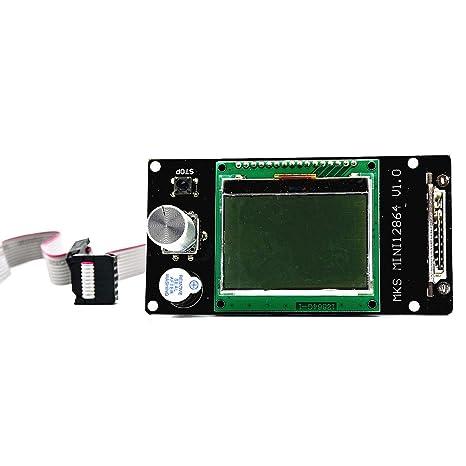 Semoic Mks Mini 12864 LCD Visualizacion 128X64 Controlador ...