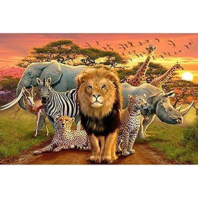 Kit mosaïque 3d animaux selvaticos perles de cristal puzzle 3d cristal multicolore pour travaux manuels, cadeaux, tableaux, Relax, psychothérapie relajantes. antistress cadeau de 30x 45cm de Open Buy