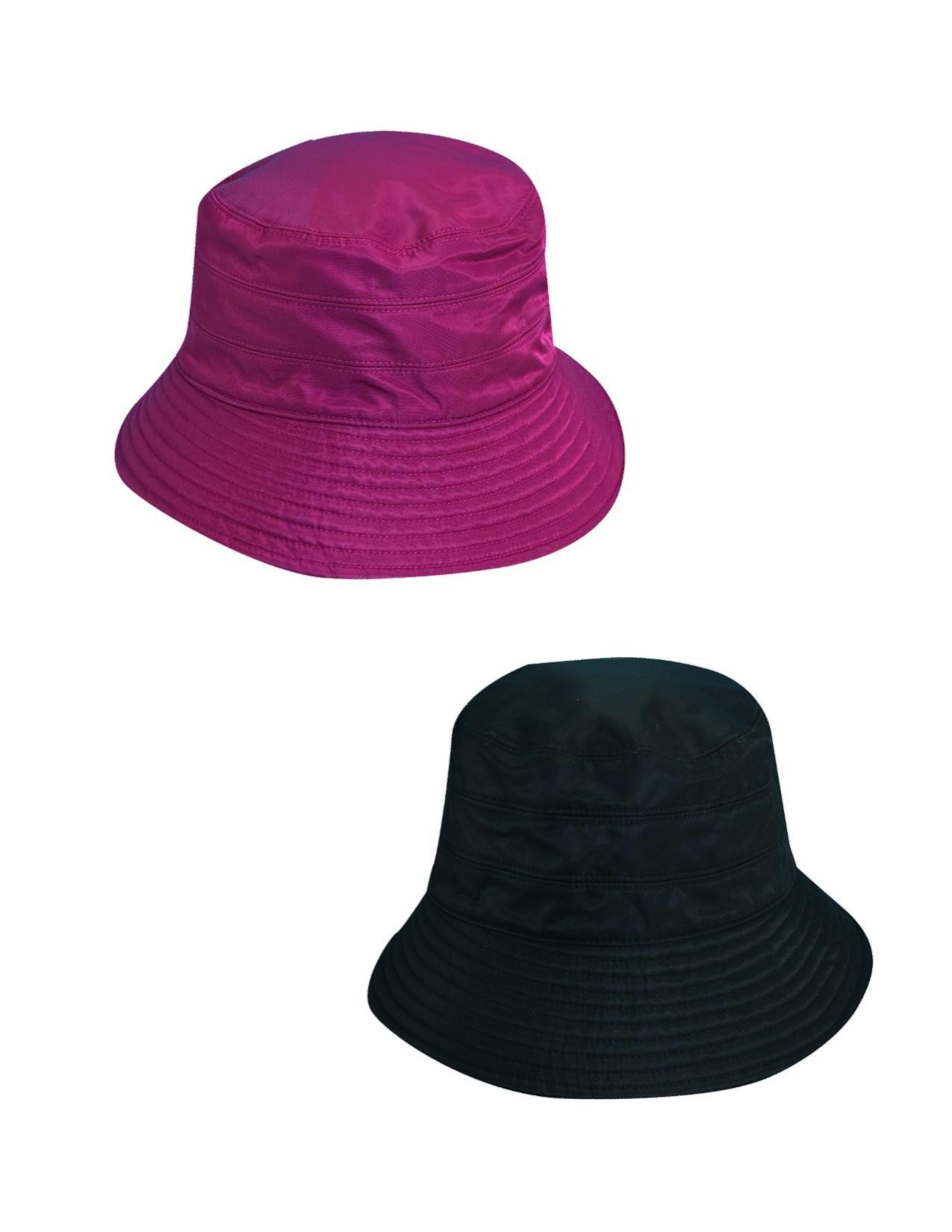 Dorfman Pacific Women's Tapered Waterproof Rain Hat (Pack of 2), Wine/Black