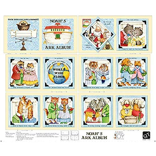 Noah's Ark Fabric (Noahs Ark Book Panel ~ 36 x 44 Cotton Fabric by Quilting)