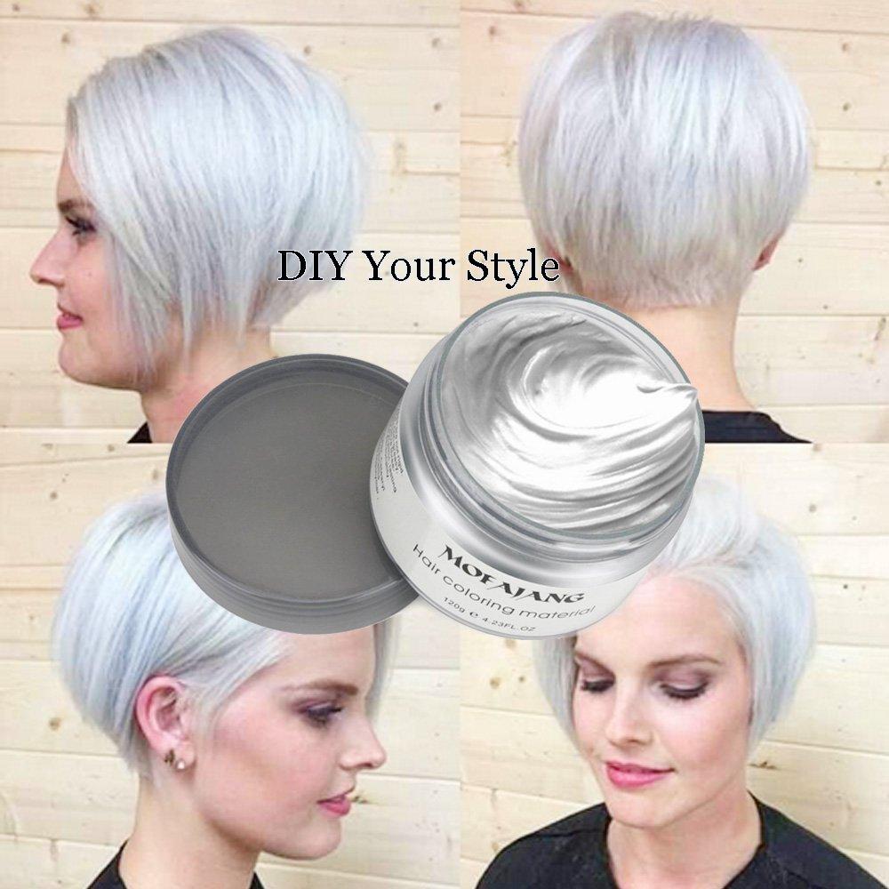 Inst Hair Wax Temporary Hair Color Wax 423oz Mofajang Natural Matte