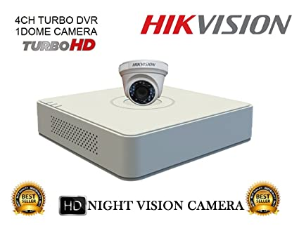 31cdd7c3f8e Hikvision DS 7104HGHI F1 Mini 4CH DVR 1Pcs + DS 2CE56COT IRP Dome Camera  1Pcs Combo