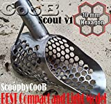 Sand Scoop best small metal detecting HEXAGON 10 Scout Metal Detector Hunting Tool Stainless Steel by CooB