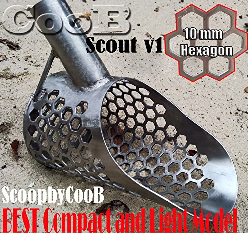 Sand Scoop best small metal detecting HEXAGON 10 Scout Metal Detector Hunting Tool Stainless Steel by CooB (Steel Scoop Sand Stainless)