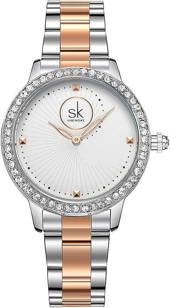 Women Diamond Analog Wrist Watch Girls Crystal Luxury Watches Clock Relogio Feminino [並行輸入品]
