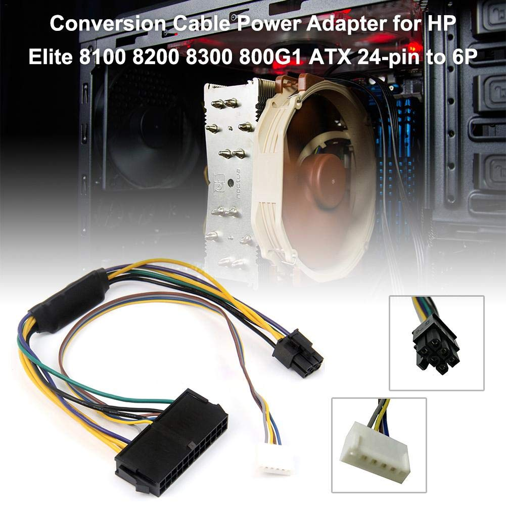 ATX 24pin a Placa Base Adaptador de 2 Puertos 6pin Cable de alimentaci/ón Cable para HP Z220 Z230