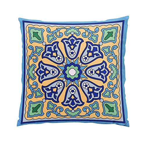 Wesbin 1930S Vintage Catalina Island Tile Design Romantic Hidden Zipper Home Sofa Decorative Throw Pillow Cover Cushion Case Inch 18x18 Square Two Sides Design Printed -