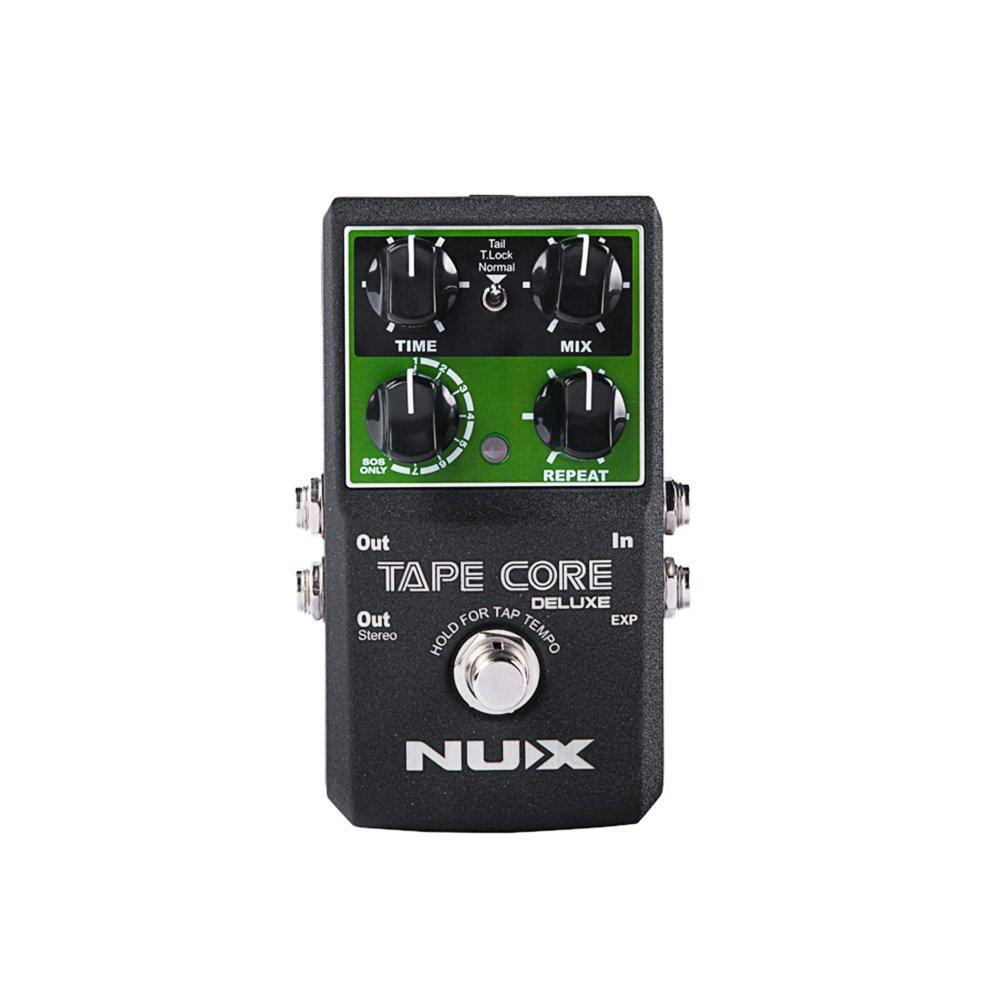 NUX Tape Core Gitarren-Effekte Effektpedal, Wahrer Bypass Echo Effekte für Gitarre Bass - Lightwish