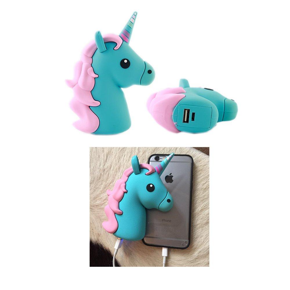Nueva energía © Emoji azul unicornio 2600 mAh USB Power Bank ...