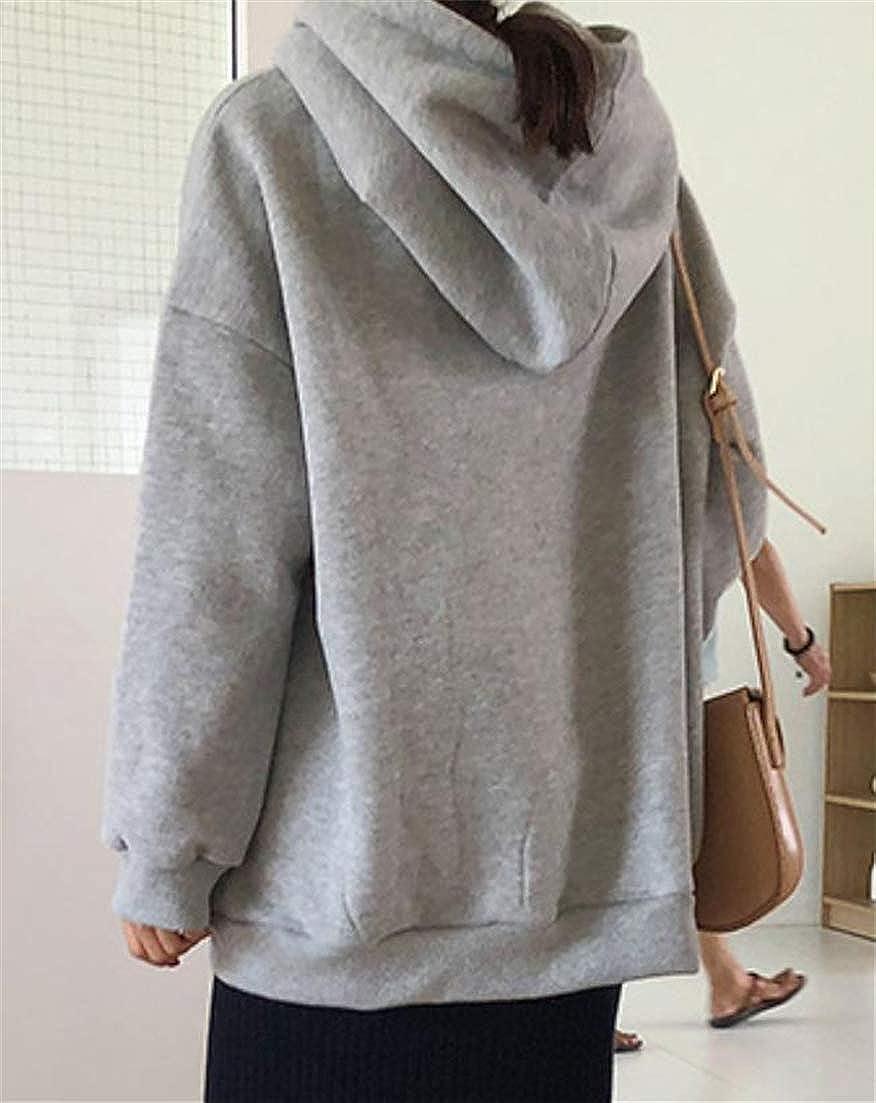 Pcutrone Womens Long Sleeve Fleece Hoodie Tops Classic Activewear Sweatshirts