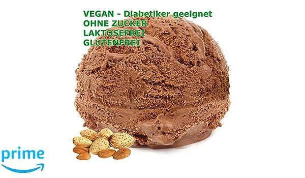 Amarga helado de almendra en polvo con sabor a chocolate vegana - Azúcar - LACTOSA - GLUTEN - crema baja en grasa, leche en polvo suave sirven helados para ...