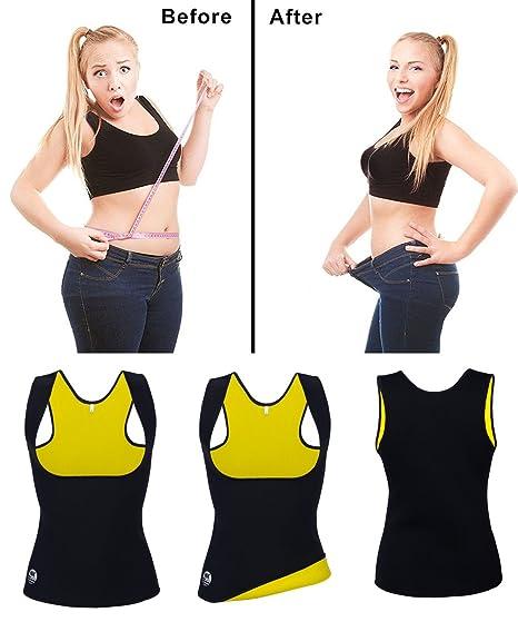 5ef8301e38 Amazon.com   FUT Sweat Sauna Body Shaper Women Slimming Vest Thermo  Neoprene Waist Trainer   Sports   Outdoors
