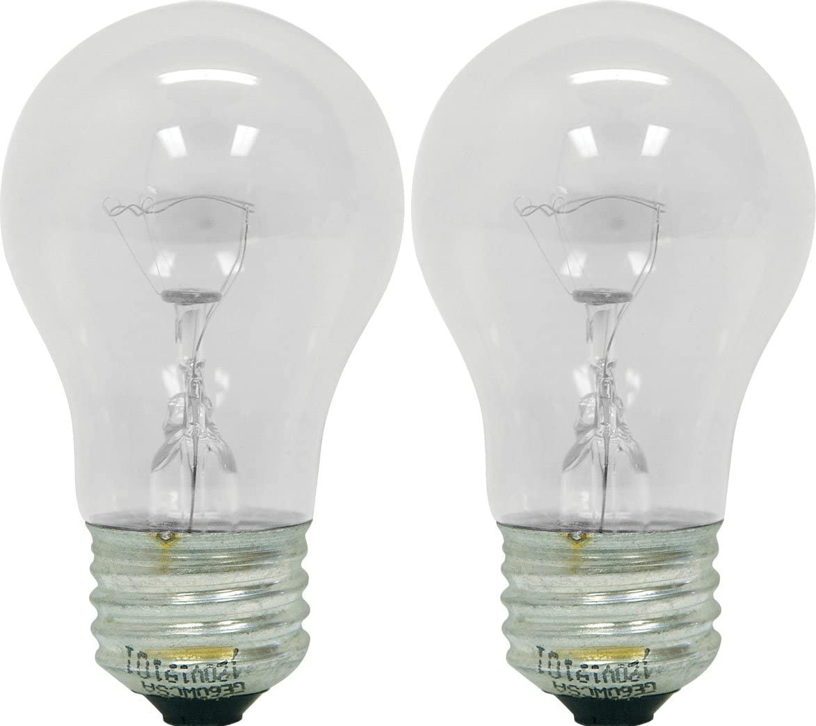 GE Appliance 21188 40-Watt, 415-Lumen A15 Light Bulb with Medium Base, 2-Pack