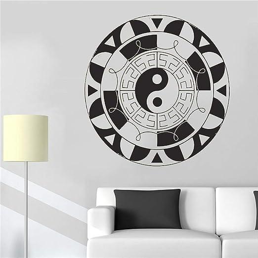 JXGG Mandala Flor Pared Vinilo Adhesivo Decoración Yoga Logo Ying ...
