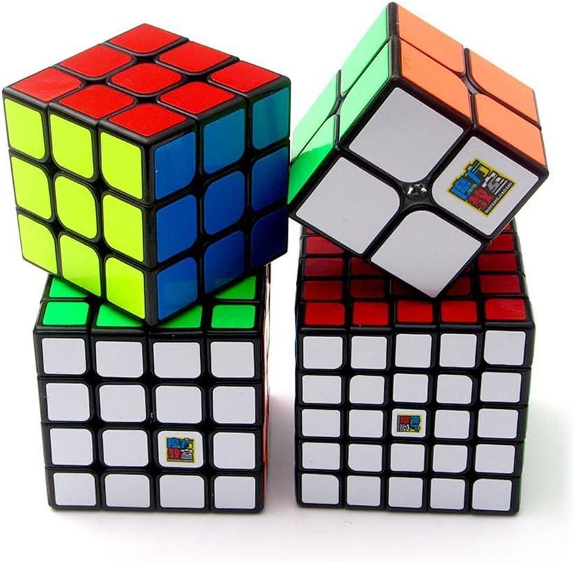 HJXDtech® Moyu Cubo de la Velocidad Conjunto de 2x2 3x3 4x4 5x5 Negro Cubo Mágico Smooth Rompecabezas Cubo Set con el Embalaje de Regalo: Amazon.es: Juguetes y juegos