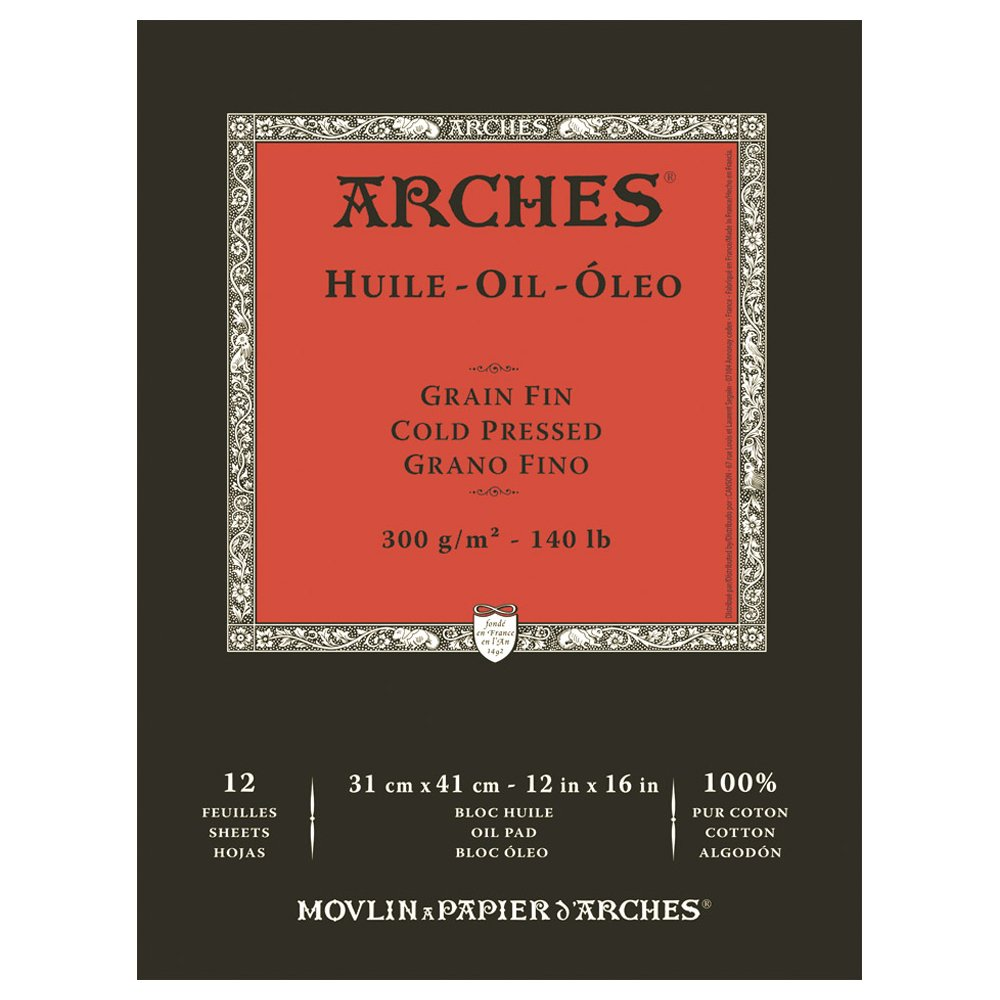 Arches Oil Painting Pad 12''x16'', by Arches