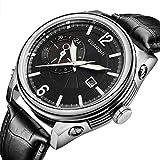 Guanqin Quartz Women's Wrist Watch Round Leather