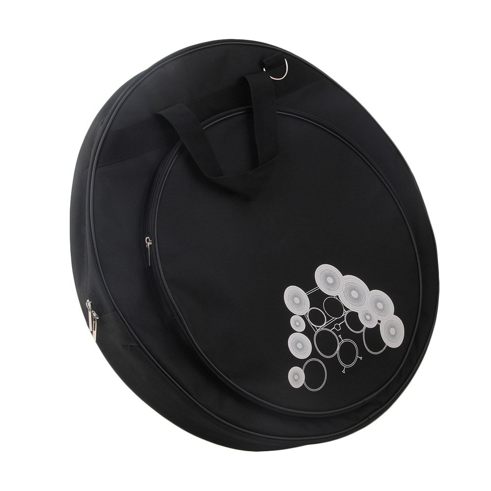 Yibuy 21.3 Inch Gig Cymbal Bag Waterproof Oxford Cloth Black etfshop Yibuy867