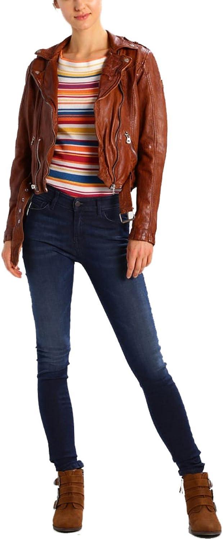 Koza Leathers Womens Lambskin Leather Biker Jacket KN299