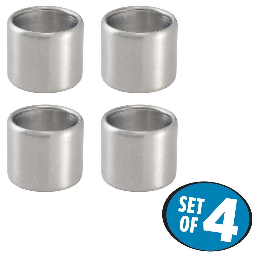 InterDesign Tor Trois Napkin Ring Set of 4 Black