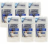 Right Guard Clinical Clear Solid Antiperspirant and Deodorant, Clean Scent (Pack of 6),1.7 Ounces each