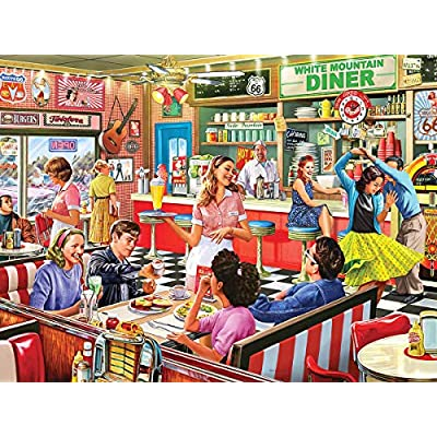 White Mountain Puzzles American Diner Designer: Steve Crisp Puzzles (1000Piece): Toys & Games
