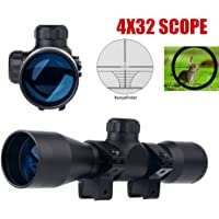 UUQ Tactical 4X32 Compact .223 .308 Scope Rangefinder Reticle/w Ring Mounts