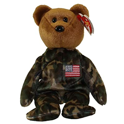 Ty Beanie Babies HERO USA - Bear (Flag on Chest): Toys & Games