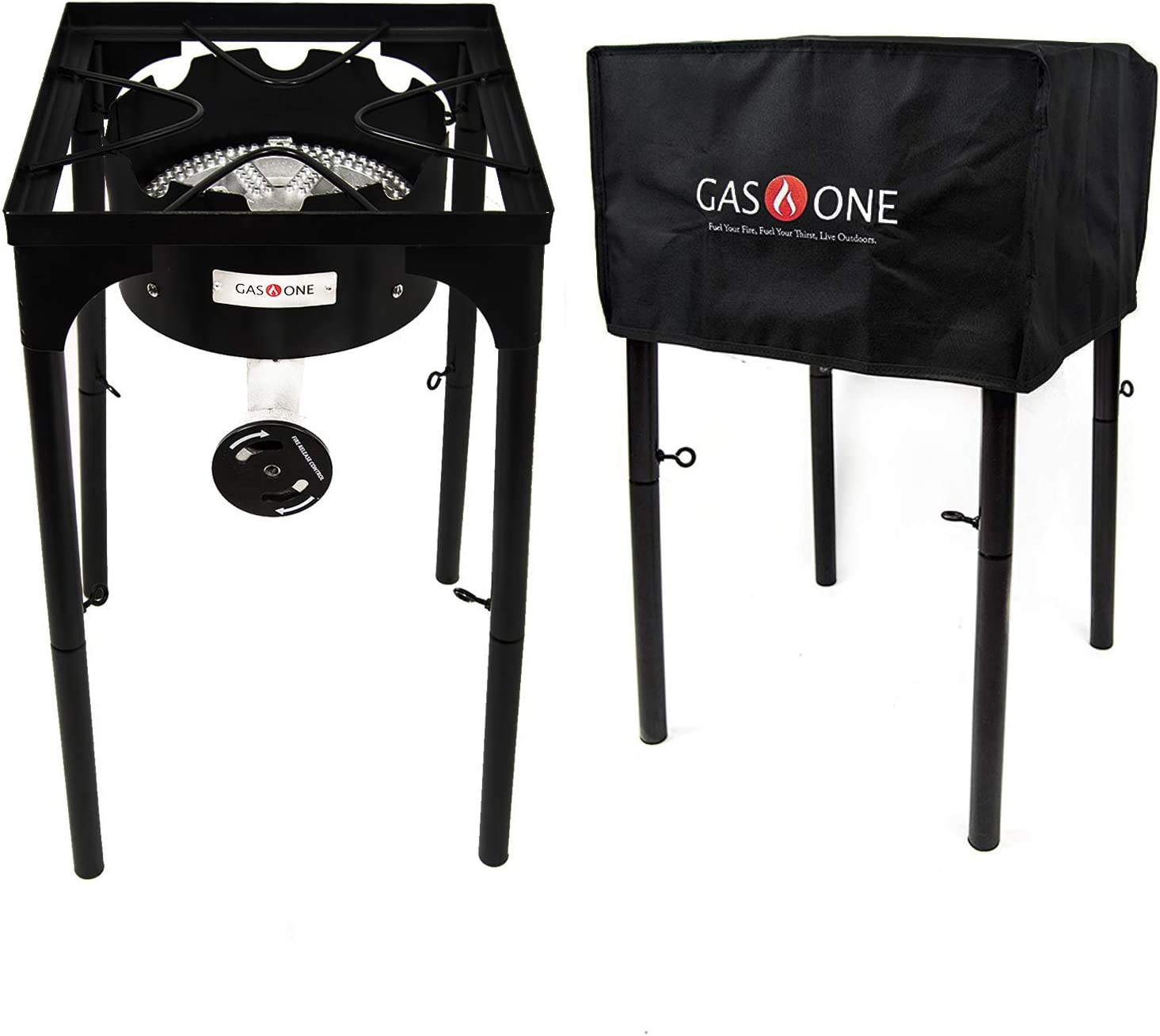 Duty Single Burner Outdoor Stove Propane... Gas ONE 200,000 BTU Square Heavy