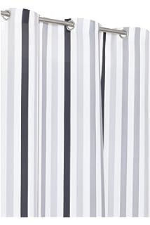 vorhang grau wei gestreift lilashouse. Black Bedroom Furniture Sets. Home Design Ideas