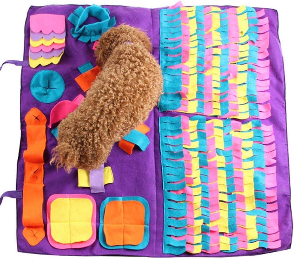 Hualieli - Alfombrilla de juguete para perro, con costuras desmontables, ideal para liberar estrés
