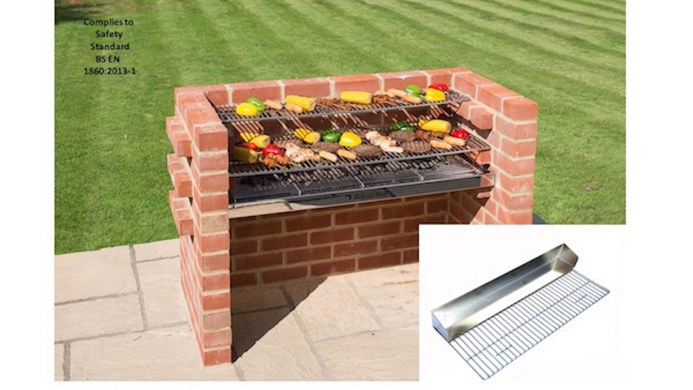 Barbacoa de ladrillos kit con Heavy Duty parrilla Grilll + ...