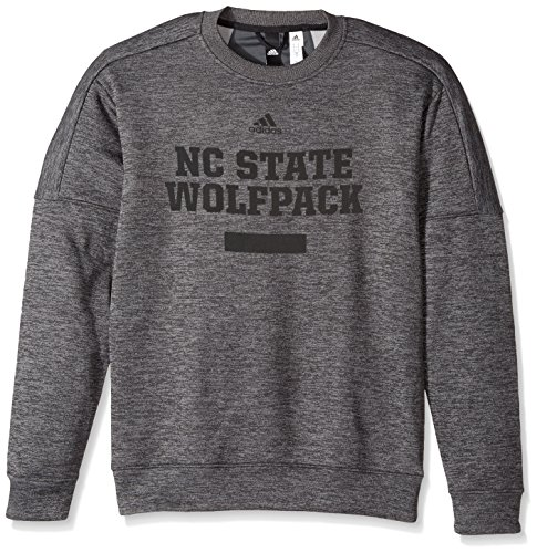 adidas NCAA North Carolina State Wolfpack Men's Sideline Chiseled Team Issue Fleece Crew Sweat Shirt, X-Large, Dark ()