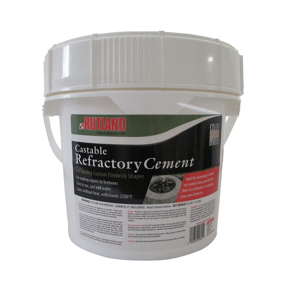 Amazon.com: Rutland Castable Refractory Cement, 25-Pound: Arts ...