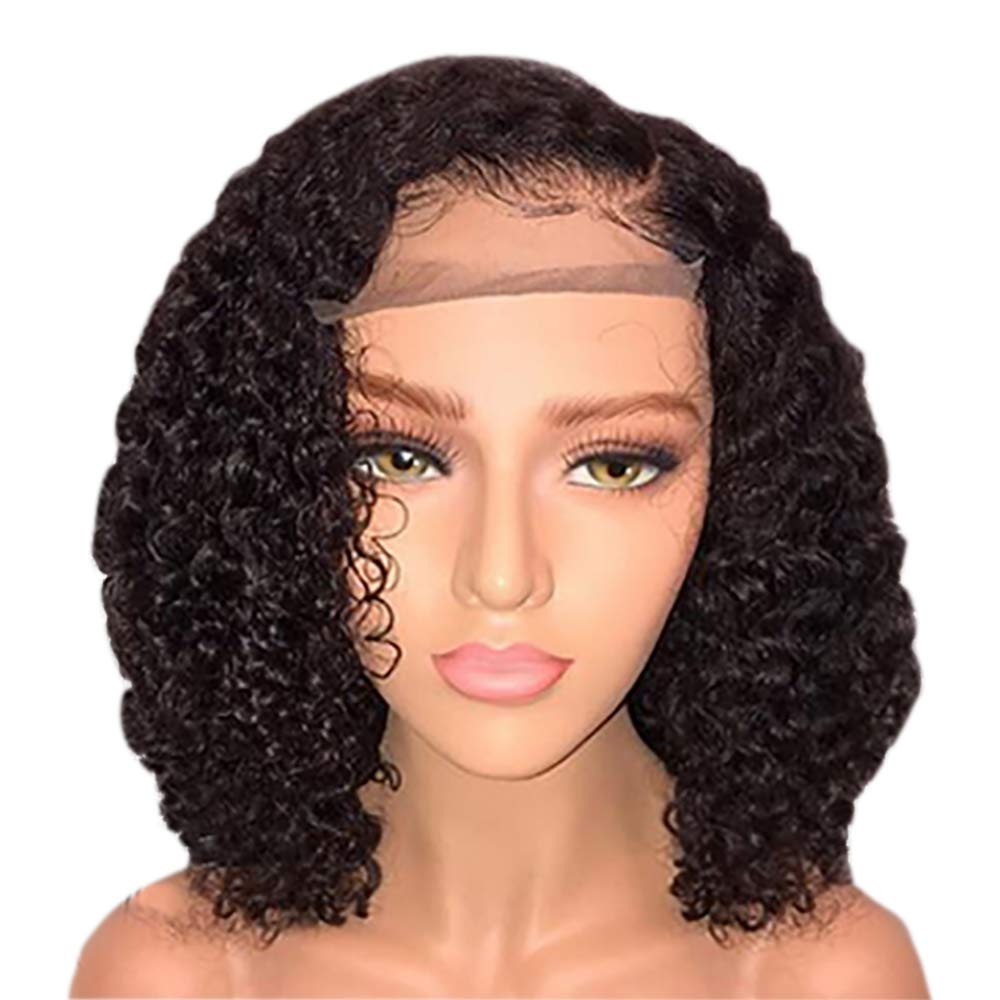 Amazon Com Jessica Hair 13x6 Lace Front Wigs Human Hair Wigs For Black Women Curly Brazilian Virgin Hair Glueless With Baby Hair 14 Inch With 150 Density Beauty