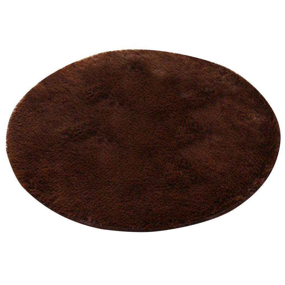 Yamalans Home Decor Soft Bath Bedroom Non-slip Floor Shower Rug Yoga Plush Round Mat