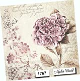 Vintage Hydrangea Flower Paper Napkins Decorative
