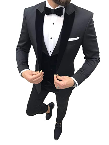 Amazon.com: Traje de fiesta floral para hombre, elegante ...